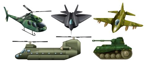 Fighting vehicles vector