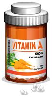 A bottle of vitamin A capsules