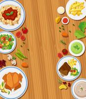 Conjunto de conceito de refeição