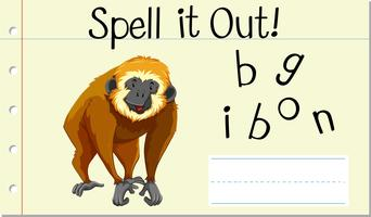 Spell it out gibbon