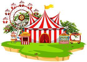 Cena da feira de carnaval
