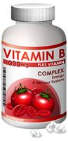 Una botella de vitamina B