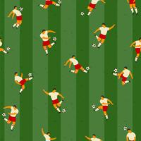 Joueurs de football. Modèle sans couture de vecteur.
