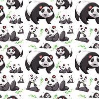 Fondo transparente de oso panda