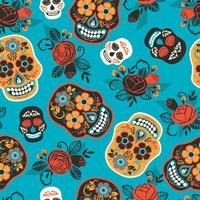 Dia de los muertos. Day of The Dead. Seamless pattern. vector