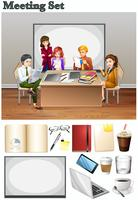 Geschäftstreffen mit Menschen im Raum