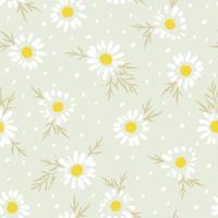 Abstraktes nahtloses mit Blumenmuster mit Kamille. Trendy handgezeichnete Texturen