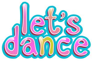 Let's dance icon on white background
