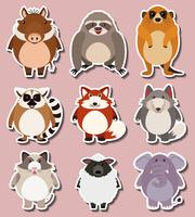 Sticker design for wild animals
