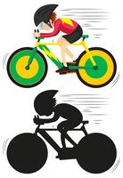 A cycling athlete character vector