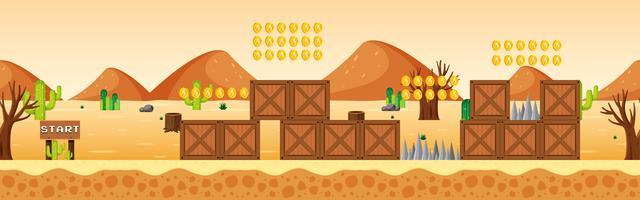 Modelo de jogo na cena do deserto