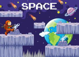 Een spelsjabloon ruimtescène