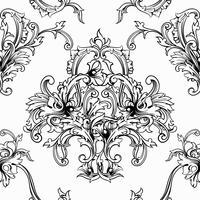 Vector de fondo sin fisuras Patrón barroco.
