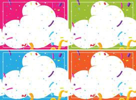 A set of cloud party  blank template