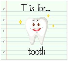 Flashcard letter T is for tooth