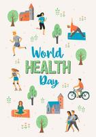 Día mundial de la salud. Estilo de vida saludable.