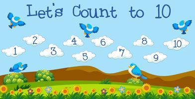 Une leçon de maths compte jusqu'à 10