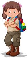 Ein Camping-Mädchen Charakter