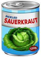 Can of pickled sauerkraut