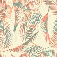 Sin fisuras patrón exótico con plantas tropicales y fondo geométrico.