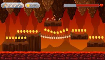 Eine Lava-Höhle-Spielvorlage