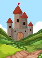 Um castelo na natureza