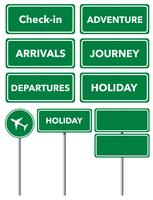 Set of holiday signs  vector