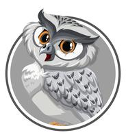 An owl on sticker template