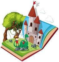 Livre ouvert de conte de fées