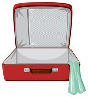 Red suitcase white background vector