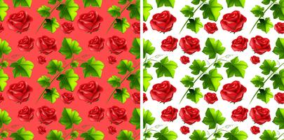 Seamless background design with red roses