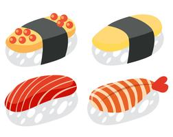 A Set of Japanese Sushi