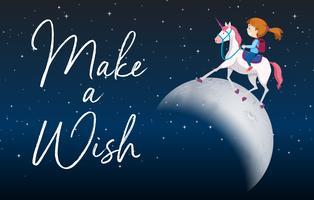 Make a wish scene