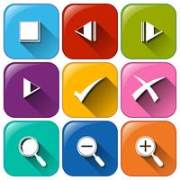 Différents boutons