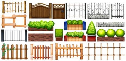 Different design of fence and wall