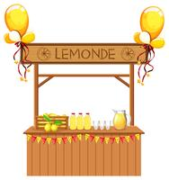 Isolated lemonade stall on white background