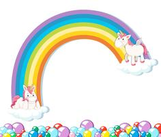 Cute unicorn on white background