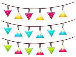 Ornamente hängen an der Linie