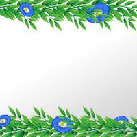 Blue flower nature border vector