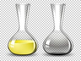 Volumetric flask on transparent background