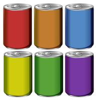 Aluminum cans in six colors
