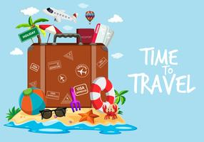 Time to travel template vector