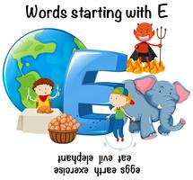 English words starting with E
