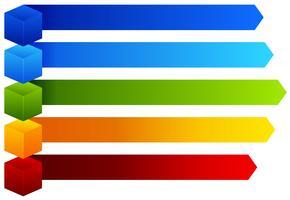 Um gráfico de informações colorido