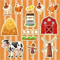 Sticker design for farm animals