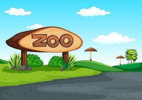 Escena del zoo sin animal.