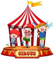 Kids on Circus Stage