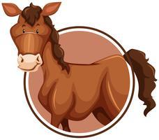 Ein Pferd auf Aufkleberschablone