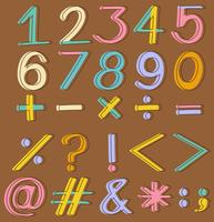 Numbers and mathematical operations