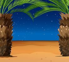 Szene mit Palmen am Strand